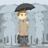 Gloomy Rainy Day Illustration — Stock Photo