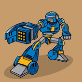 Super War Robot Illustration — Stok fotoğraf