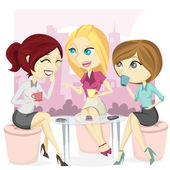 Gossip Office Girl Illustration — Stock Photo