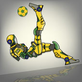 Brazilian Football Robot Illustration — Stock Photo