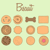 Biscuit Collection — Stockvektor