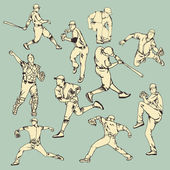 Baseball Sport Action — Stock Vector
