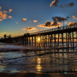 Summer sunset in Oceanside, California - Stock Photo