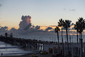 Sunset at the Oceanside Pier — Stock Photo