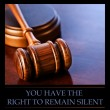 Stock Photo: Right To Remain Silent