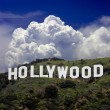 o famoso letreiro de hollywood — Foto Stock