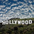 la famosa insegna di hollywood — Foto Stock