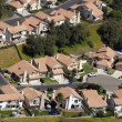Aerial view of houses in a middle class tract. — Stock Photo