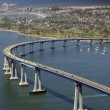 Panoramic view of San Diego's Coronado Bay Bridge — Stock Photo