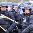 Stock Photo: Police Officers in Riot Gear