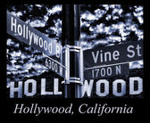 Hollywood and Vine — Stock Photo