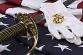 US Marine Corps symbols — Stock Photo