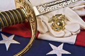 US Marine Corps symbols — Stock Photo