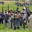 Confederates on the battlefield. — Stock Photo