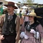 ������, ������: Period actors at a Civil War encampment