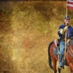 American Civil War reenactment. — Stock Photo
