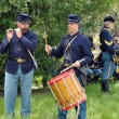 American Civil War reenactment. - Stock Photo