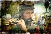 Recreación de la guerra civil americana. — Foto de Stock