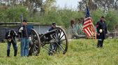 Amerikanischen Bürgerkriegs reenactment. — Stockfoto