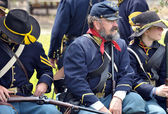 American Civil War reenactment. — Stock Photo