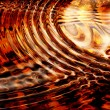 Concentricity aflame - Stock Photo