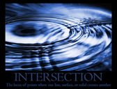 Intersection Poster — Stock Photo
