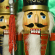 Closeup of a wooden Christmas nutcracker — Stock Photo