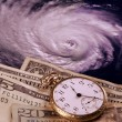 Cost of a hurricane — Stock Photo
