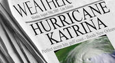 Hurricane Katrina slams into the gulf — Stock Photo