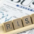 "The word ""Risk"" in business — Stock Photo"