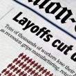 Stock Photo: Layoffs cut deep