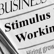 Economic Stimulus Working — 图库照片