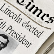 Abraham Lincoln was elected the 16th President of the United States — Stock Photo