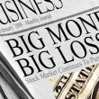 Big Money Big Losses — Stock Photo