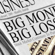 Big Money Big Losses — Foto de Stock