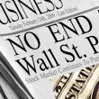 No End To Wall St. Pain - Stock Photo