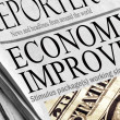 Economy is Improving - Headlines from a newspaper. — Stock Photo
