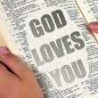 Stock Photo: God Loves You