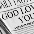 Royalty-Free Stock Photo: God loves you