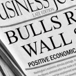 Royalty-Free Stock Photo: Bulls Run Wall St.