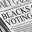 Blacks (and all races) getting voting rights - Stock Photo