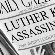 Martin Luther King was assassinated in 1968 - Stock Photo