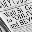 Stock Photo: Wall St. goes to Oblivion and Beyond