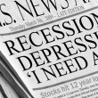 Recession or Depression..I need a job — Stock Photo