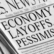 Economy slow - Layoffs, losses, pessimism cause — Stock Photo