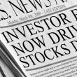 Investor fear now driving stocks down — Stock Photo