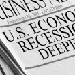 U.S. Economic Recession Deepens — Stock Photo
