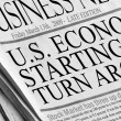 U.S. Economy Starting to turn around — Foto Stock