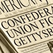 Постер, плакат: Union And Confederacy Battle in Gettysburg