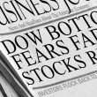 Stock Photo: Dow Bottoms...Fears Fade & Stocks Rise